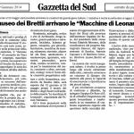 """Al Museo dei Brettii arrivano """"Le Macchine di Leonardo"""""""