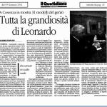 Tutta la grandiosità di Leonardo