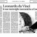 Leonardo da Vinci: le sue meraviglie meccaniche a Cosenza