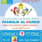 """Domenica 9 ottobre torna l'appuntamento con """"Famiglie al Museo"""""""