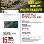 """Presentazione del volume """"Centri fortificati indigeni della Calabria dalla protostoria all'età ellenistica"""" a cura di Luigi Cicale e Marco Pacciarelli"""