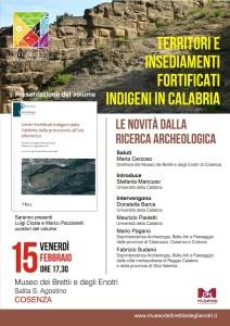 Locandina Centri fortificati indigeni della Calabria