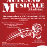 XX Stagione Concertistica Internazionale Autunno Musicale